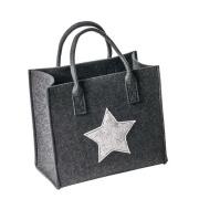 LaFiore24 hochwertige Filztasche Shopper Stern...