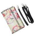 LaFiore24 Clutch Smartphone Tasche Leder Smartphone Schultertasche Shopper Cross Body Bag