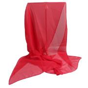 LaFiore24 Chiffon Stola Damen Schal Tuch Rot