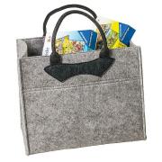 LaFiore24 Filztasche hochw. Einkaufstasche Filz Shopper Damen Handtasche Gross ca.36 x 24 x 31cm grau