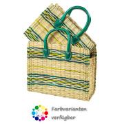 LaFiore24 Einkaufskorb natur Shopper Henkeltasche