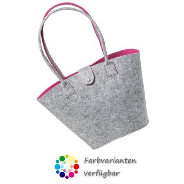 LaFiore24 Filztasche Shopper Einkaufstasche Henkeltasche