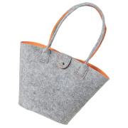 LaFiore24 Filztasche Shopper Einkaufstasche Handtasche Henkeltasche Grau - Orange
