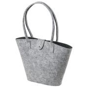 LaFiore24 Filztasche Shopper Einkaufstasche Handtasche Henkeltasche Grau - Dunkelgrau