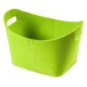 LaFiore24 Filzkorb stabiler Geschenkekorb Aufbewahrungs Korb stabil oval grün
