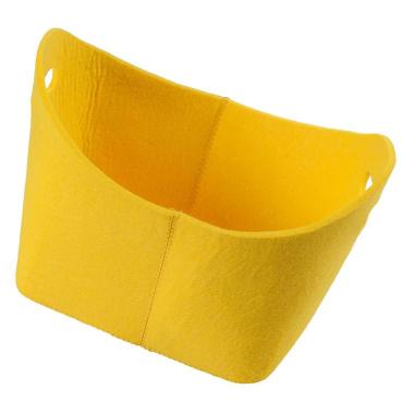 LaFiore24 Filzkorb stabiler Geschenkekorb Aufbewahrungs Korb stabil oval gelb
