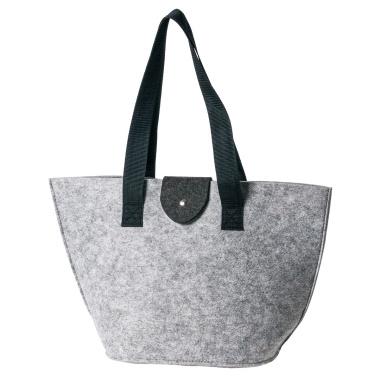 LaFiore24 Filztasche Einkaufstasche Damen Filz Shopper Festival Bag Henkeltasche Aufbewahrung (Hellgrau)