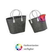 LaFiore24 Filztaschen 2er-Set Filz Shopper Henkeltaschen...