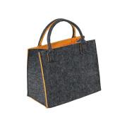 LaFiore24 Hochw. Filztasche Einkaufstasche Filz Shopper Festival Damen Handtasche grau-orange