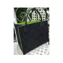LaFiore24 Hochw. Filztasche Einkaufstasche Filz Shopper Festival Damen Handtasche grau-grün
