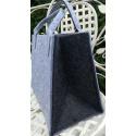 LaFiore24 Hochwertige Filztasche Einkaufstasche Damen Shopper Handtasche Henkeltasche Festivalbag hell grau-dunkel grau