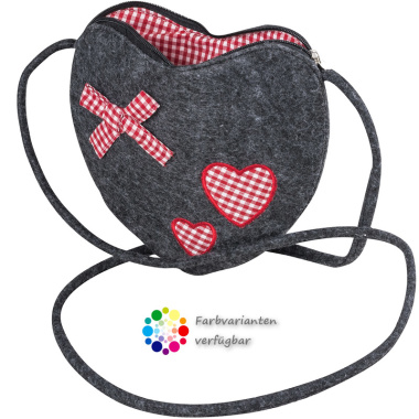 LaFiore24 Filztasche Damen Dirndl Tasche Herz Umhängetasche Festival Shopper