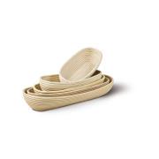 LaFiore24 Gärkorb Brotkorb Körbchen oval lang Brotform Hefeteig Nachhaltig aus Peddigrohr viele Größen