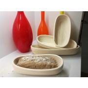 LaFiore24 Gärkorb Brotkorb Körbchen oval lang Brotform Hefeteig, Nachhaltig aus Peddigrohr verschied. Größen 3 Pfund - 1500 Gramm ca. 42 cm