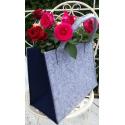 LaFiore24 Hochwertige Filztasche Einkaufstasche Damen Shopper Handtasche Henkeltasche Festivalbag hell grau-blau