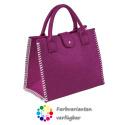 LaFiore24 Filztasche Shopper Einkaufstasche
