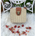 LaFiore24 Korbtasche Schultertasche Damen Shopper Bali Tasche Ibiza Natur Eckig Natur