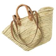 LaFiore24 Einkaufskorb Schulter Tasche Palmblatt Shopper...
