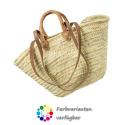 LaFiore24 Einkaufskorb Schulter Tasche Palmblatt Shopper Damen Henkeltasche Natur