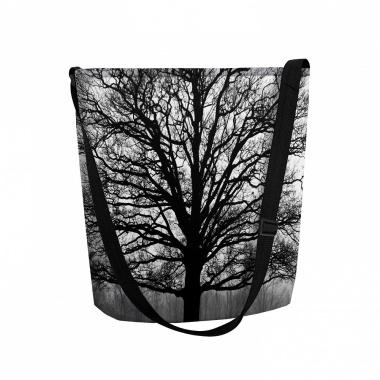 LaFiore24 Filztaschen Umhängetasche Filz Einkaufstasche Damen Shopper Allzweck Tasche Baum Maschinenwaschbar bis 30 Grad
