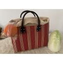 LaFiore24 Einkaufstasche Shopper Henkeltasche Korb Handtasche Allzwecktasche Rot