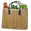 LaFiore24 Einkaufstasche Shopper Henkeltasche Korb Handtasche Allzwecktasche Orange-Mehrfarbig