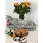 LaFiore24 Rattan Tasche Bali Schultertasche Damen Umhängetasche oval stabil gross