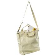 LaFiore24 Shopper Einkaufstasche Damen Strandtasche Sporttasche Schultertasche Henkeltasche Beige