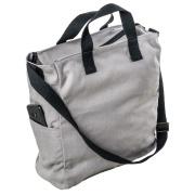 LaFiore24 Shopper Einkaufstasche Damen Strandtasche Sporttasche Schultertasche Henkeltasche Grau