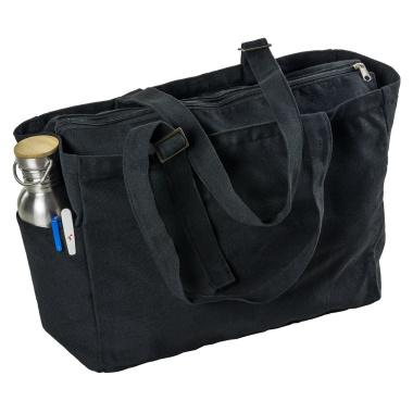 LaFiore24 Damen Shopper Einkaufstasche Strandtasche Sporttasche Schultertasche Henkeltasche Schwarz