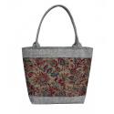 LaFiore24 Damen Filztasche Einkaufstasche Shopper Henkeltasche Allzweck Floristische Muster mittel groß