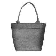 LaFiore24 Shopper Damen Filztasche Einkaufstasche Henkeltasche Blüten Motiv waschbar mittel groß