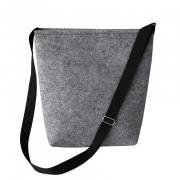 LaFiore24 Filz Tasche Damen Shopper Einkaufstasche Umhängetasche Freude mittel groß