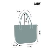 LaFiore24 Filz Tasche Einkaufstasche Shopper Henkeltasche Stern Motiv Gross  XL