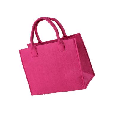 LaFiore24 Hochwertige Filztasche Einkaufstasche Damen Henkeltasche Festivalbag mittel gross pink