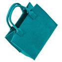 LaFiore24 Hochwertige Filztasche Einkaufstasche Damen Henkeltasche Festivalbag mittel gross blau türkis