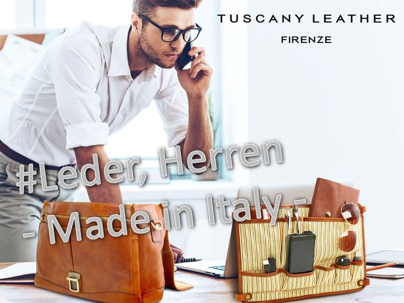 Handtaschen, Brieftaschen für Herren, Visitenkarten- und Kreditkartenetuis, topmodisch und exklusiv aus Italien