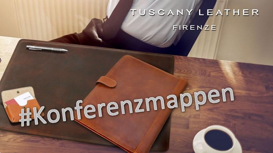 Konferenzmappen aus Italien, aus Leder - hochwertig, elegant und exklusiv